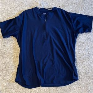Nike dry fit front zip tech shirt - navy